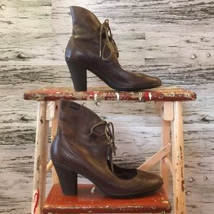 Camper Distressed Brown Leather Bootie Size 36